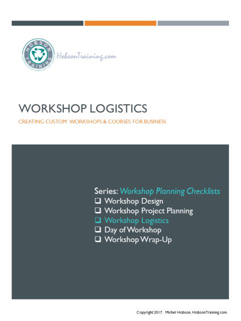 Workshop Logistics Checklist DIY The Designer